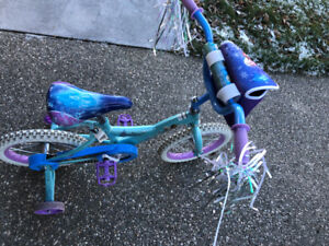 "Girls 14"" Frozen Bike - Hardly used"