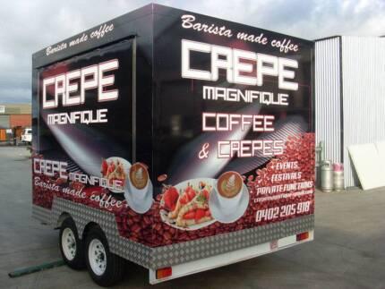 3000 x 2400 x 2200 High Tandem Food Van Trailer