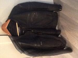 Men's motorcycle jacket, vest and chaps