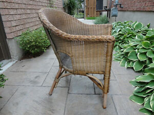 Solid Wicker Chair - Great for Sun porch, Deck, Cottage or Patio Kitchener / Waterloo Kitchener Area image 2