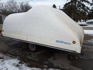 12' enclosed snowmobile trailer