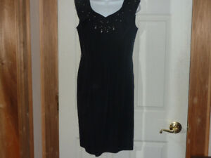 Vintage Black Dress - Made in Miami!!