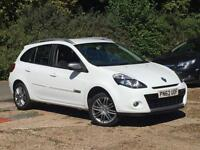 2012 Renault Clio 1.2 ( 75bhp ) Sport Tourer Dyn Tom Tom White only 49k Miles!!!
