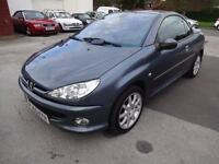 PEUGEOT 206cc 1.6 CONVERTIBLE~55/2005~MANUAL~2 DOOR~STUNNING GREY~JUST 66k