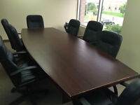 Board Room Table with Chairs