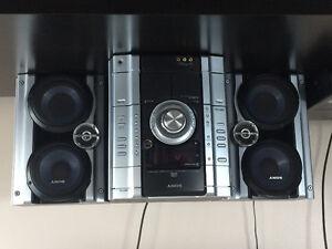 Sony - chaîne stéréophonique - radio, lecteur cd, MP3, casettes