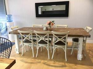 Industrial Style 8 Seater Dining Table/Chair Setting East Toowoomba Toowoomba City Preview