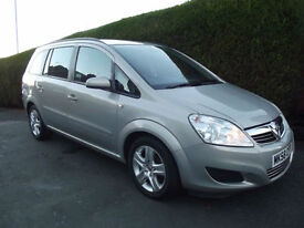 VAUXHALL ZAFIRA 1.6 16v 2008 EXCLUSIVE VERY LOW MILES,MOT AUGUST & FULL SERVICE