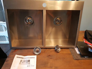 Kindred stainless double bowl sink for sale