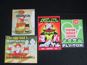 VINTAGE CARD ADVERTISING SIGNS