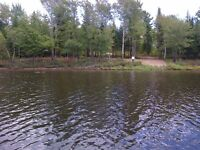3-ACRE LOT WITH 270 FEET ON SALMON RIVER, CHIPMAN, NB