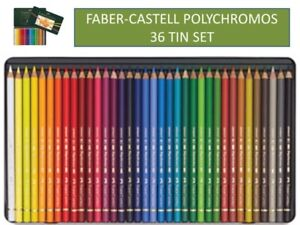Color Pencil Polychromos tin of 36 FROM FABER-CASTELL,
