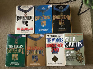 7 paperbacks by W.E.B.  GRIFFIN. EJOY THE THRILL AND SUSPENSE.