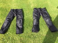 2 pairs of Richa motorcycle trousers