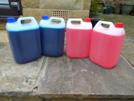 Chemical toilet fluid. 10 Litres in total.