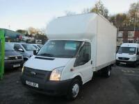 2013 13 FORD TRANSIT LUTON WITH ALLOY TAIL LIFT 14FT BOX TWIN REAR WHEELS 125 PS
