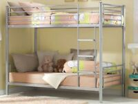 SINGLE METAL BUNK BED AVAILABLE FRAME WITH MATTRESSES