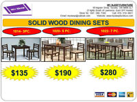 BRAND NEW- DINING TABLES, DINING CHAIRS- Many models and colors