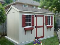 SHEDS NIAGARA  8X12   $2250.00    INSTALLED!!