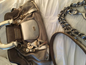 Authentic gold leather Versace handbag
