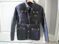 Girls Dark Purple Barbour Jacket Size 14/16