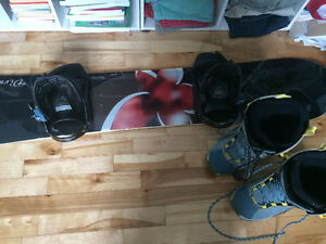 Rossignol board, boots, and bindings