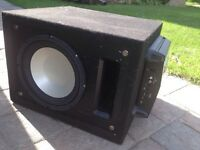 """10"""" infinity sub with a mtx 4001 amp + box"""