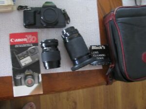 T70 CAMERA WITH TWO LENS AND CASE WITH BOOKLET  $20.00