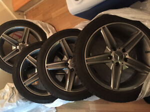 Original Mercedes Mags and Continental ExtremeWinterwinter tires