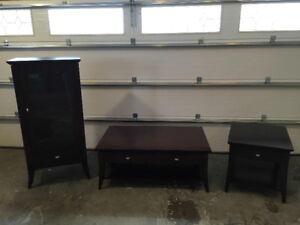 Living room tables and cabinet