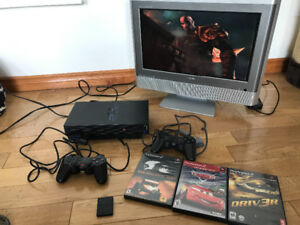 PS2 with 3 Games