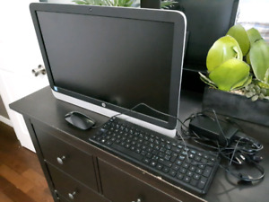 HP All In One Desktop - ready to use.  Basically brand new