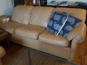 All-leather couch set - Great condition!