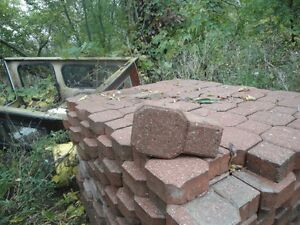 interlocking brick in reddish