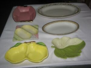 VINTAGE VARIOUS  TABLEWARE .LOT OF 6 DISHES