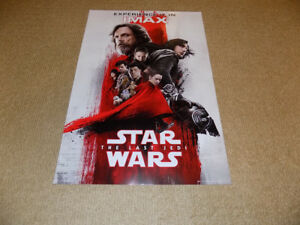18.5 X 12.5 STAR WARS THE LAST JEDI IMAX POSTER