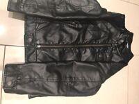 Leather look girls jacket