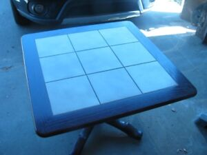 """End Table Mahanoy, Marble Top, 30 X 30"""""""