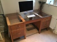 Free large wooden desk for office or home