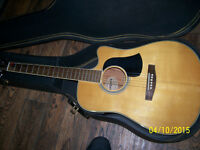 Vintage Aria Acoustic Electric Cutaway Made In Japan rare&case