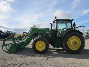 2015 John Deere 6155R Tractor w/640R Loader/Grapple ONLY 189 Hrs