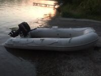 Mercury inflatable boat with 15 hp motor