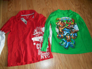 2 Long sleeve Boys shirts Size 5 for $4