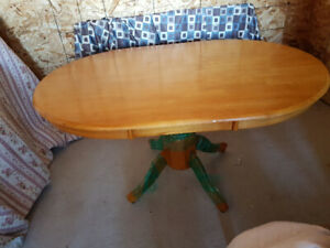 Heavy Wooden Kitchen Table and Four Chairs $275