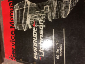 Service manual evinrude Johnson 60through v6