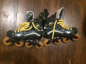 Mens  hockey style rollerblades Mission SZ. 9, and 11