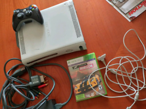 Xbox 360 with controller and cables