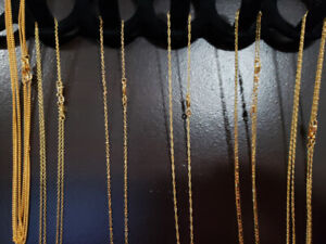 DEAL- 11 - 18k GOLD FILLED  chains $150 or $20 ea
