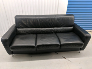 Genuine  Leather   3     -  Seater  Sofa.     free    delivery