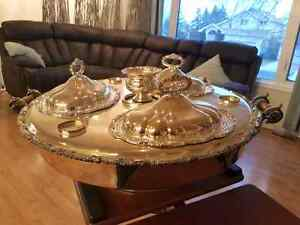 Beautiful sheffield silver plated bain marie lazy susan Edmonton Edmonton Area image 2